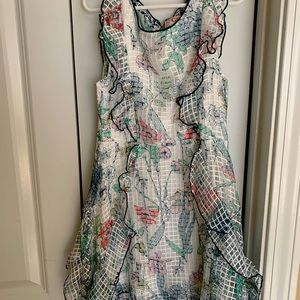 White and Floral GB Girls Dress Size 7